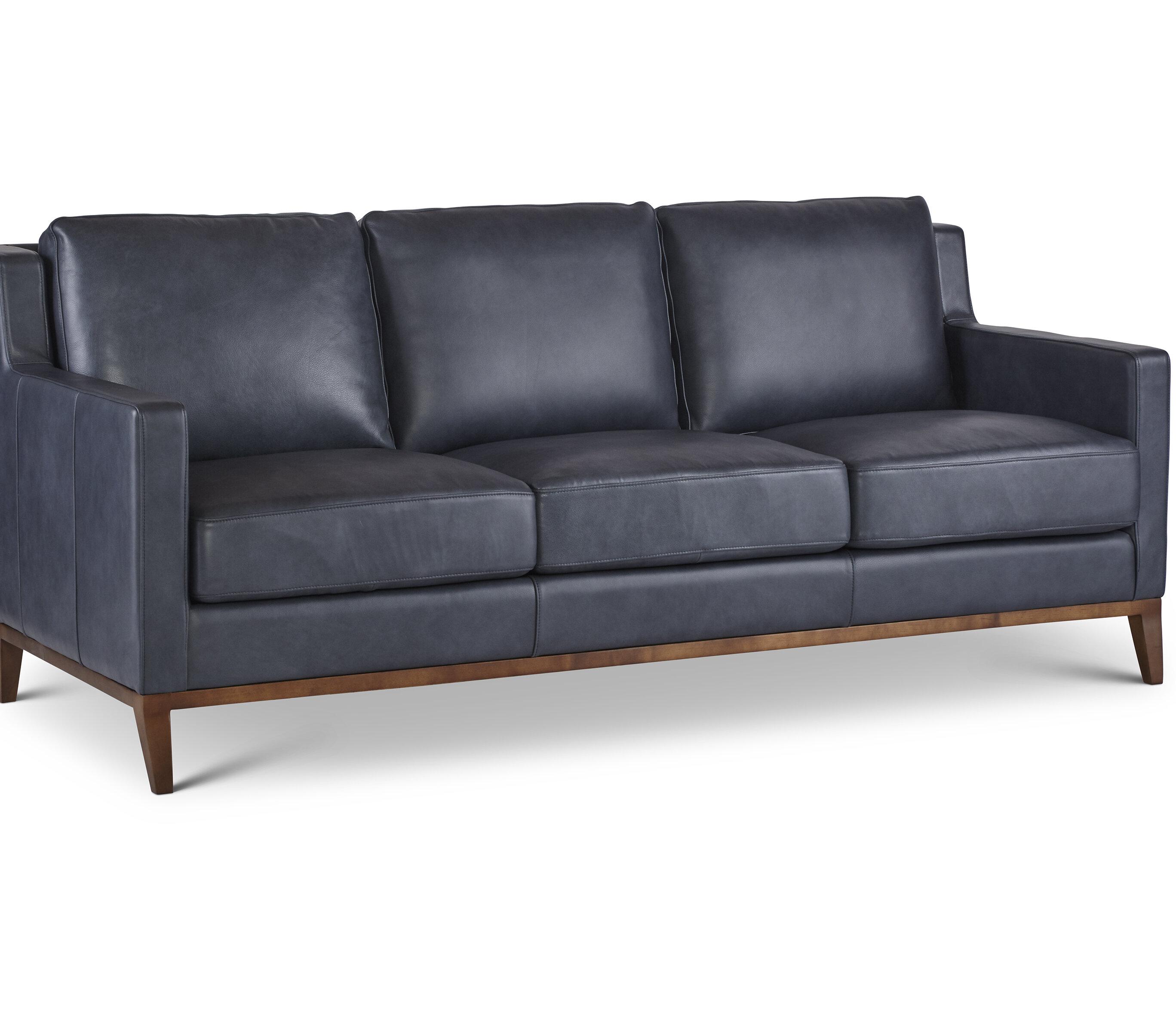 Cool Myars Cognac Leather Sofa Wayfair Creativecarmelina Interior Chair Design Creativecarmelinacom