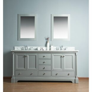 Price Check Rayleigh 72 Double Bathroom Vanity Set with Mirror By Charlton Home
