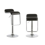 Lulette 2 Piece Adjustable Height Swivel Bar Stool Set by Orren Ellis