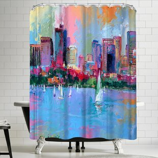 Richard Wallich Boston Single Shower Curtain