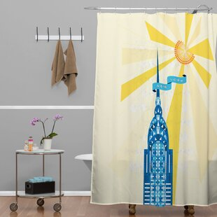 Jennifer Hill New York City Chrysler Building Single Shower Curtain