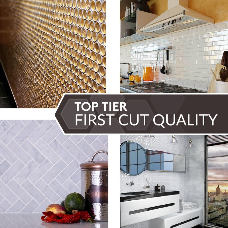 Apollo Tile Backsplash Tiles Sheet 3 X 12 Glass Tile For Kitchen Bathroom Flooring Antique Mirror Subway Silver 20 Pack Wayfair