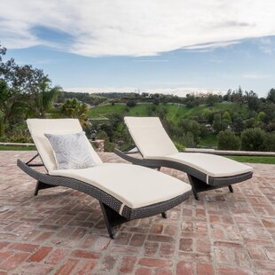 Benoit Reclining Chaise Lounge with Cushions (Set of 2)
