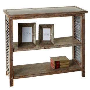 Elsworth Galvanized Top Console Table by Gracie Oaks