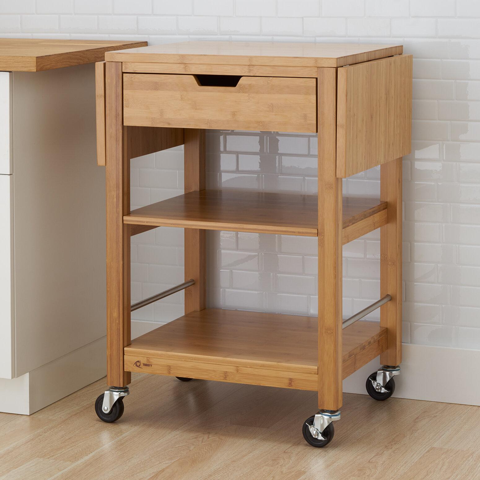 Alcott Hill Wenlock Kitchen Cart Solid