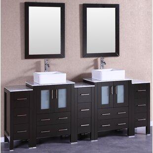 Milan 84 Double Bathroom Vanity Set with Mirror by Bosconi