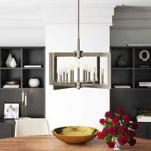 13-Light Square/Rectangle Chandelier by Mercury Row