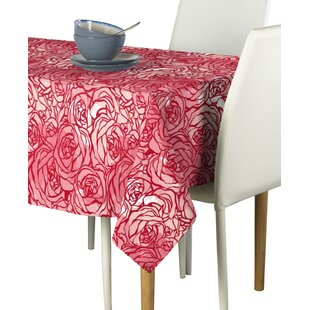 Loranger Hand Drawn Roses Milliken Signature Tablecloth