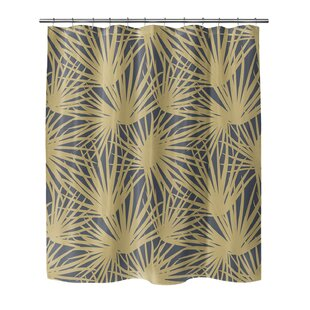 Affordable Irving Palm Pom Shower Curtain ByBayou Breeze