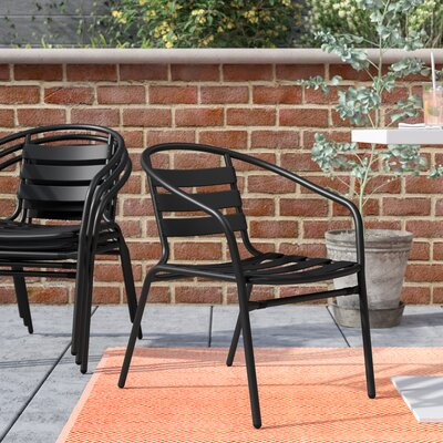 aluminum stackable patio chairs. Corrales Stacking Patio Dining Chair (Set Of 4) Aluminum Stackable Patio Chairs N