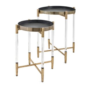 Walter 2 Piece Metal Tray Top Table Set