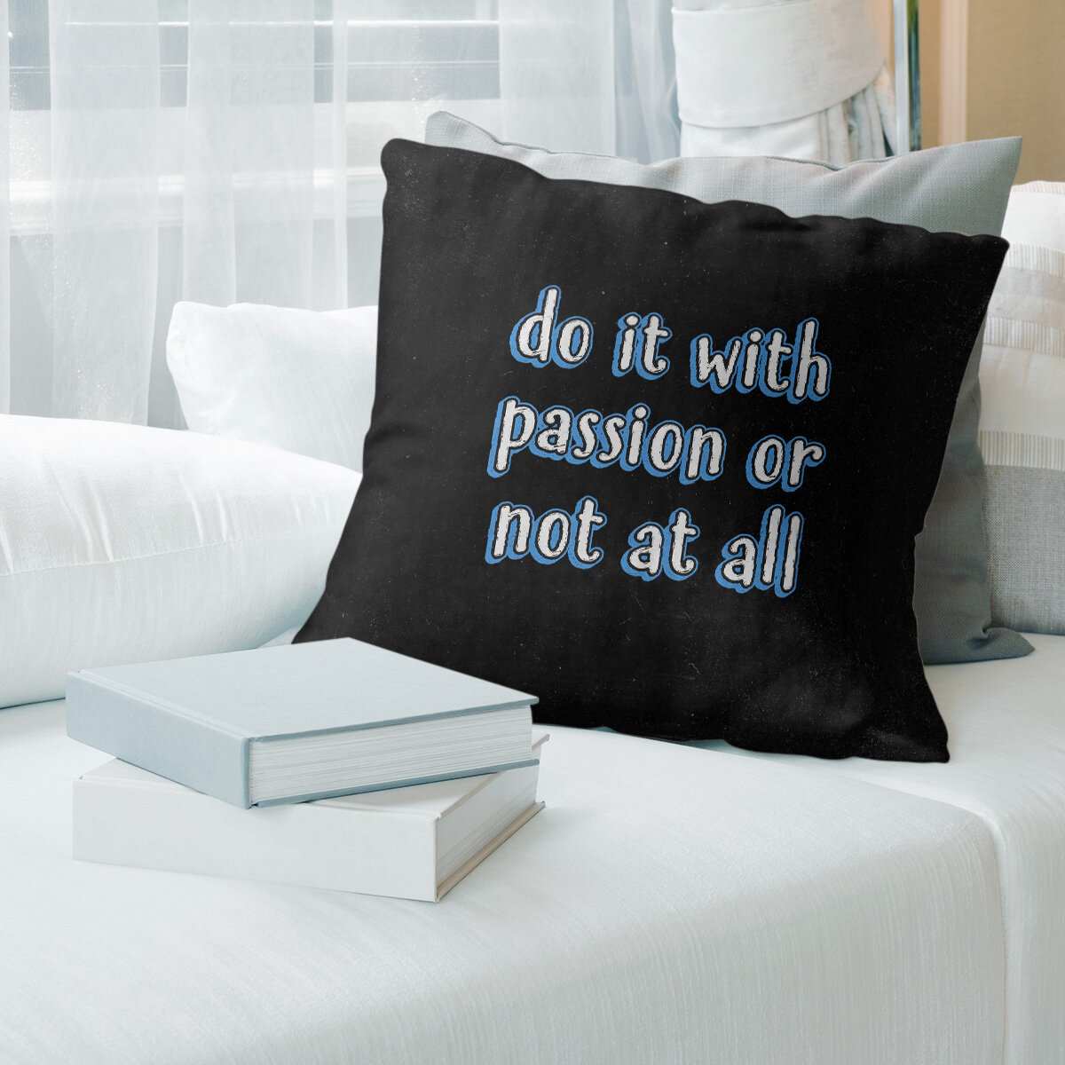 East Urban Home Passion Inspirational Quote Chalkboard Style Pillow Cover Wayfair
