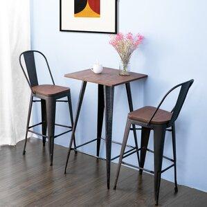 Lyndia 3 Piece Pub Table Set by Williston Forge