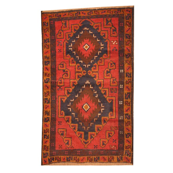 Isabelline Prentice Hand Knotted Wool Red Area Rug Wayfair
