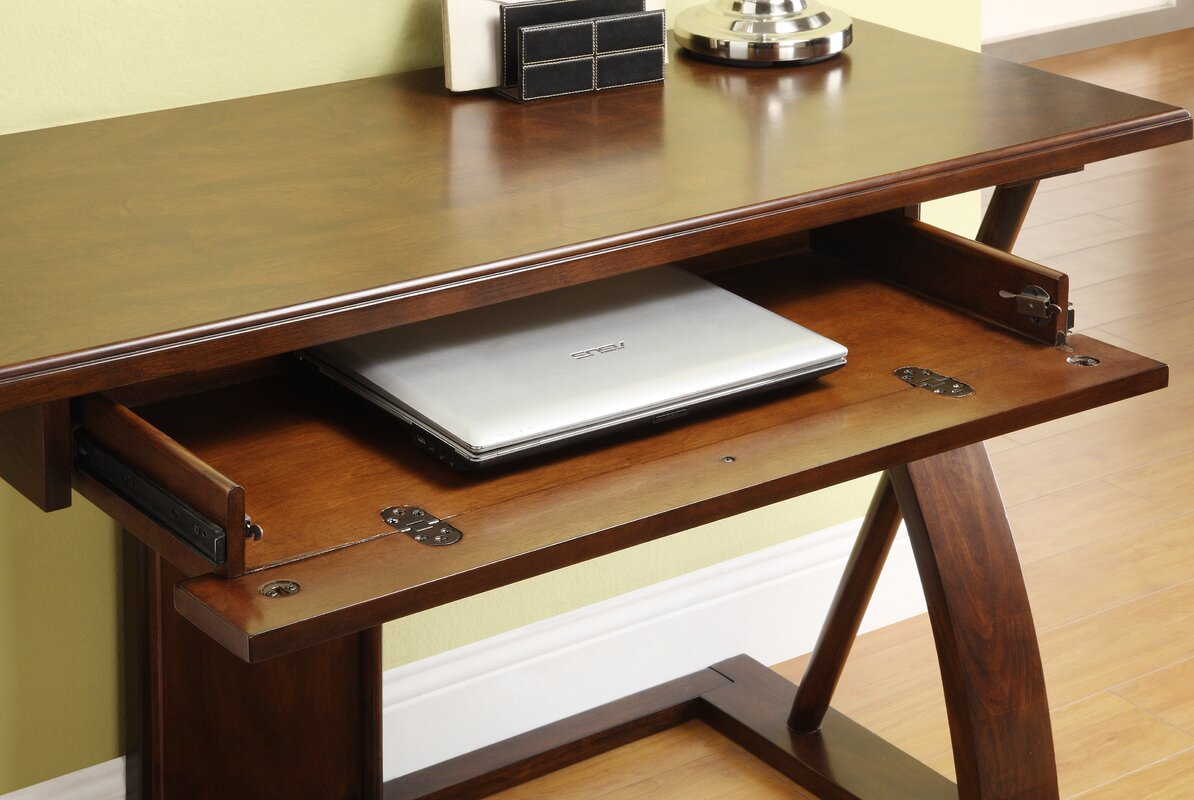 spaces traditional keyboard storage with office furniture desk bookshelf small corner home wood tray and desks ideas for drawer