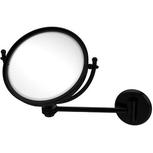 Wall Mounted Make-Up 4X Magnification Mirror with Dotted Detail ByAllied Brass