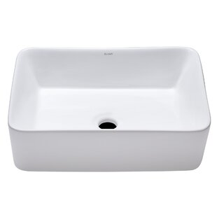 Reviews Ceramic Rectangular Vessel Bathroom Sink By Elanti