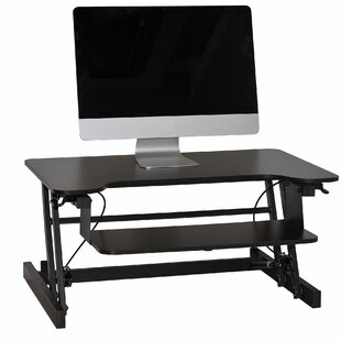 Easy Pull Home Office Standing Desk Converter by Symple Stuff No Copoun