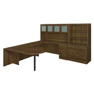 Fairplex 8-Piece L-Shape Desk Office Suite by Flexsteel Contract Sale