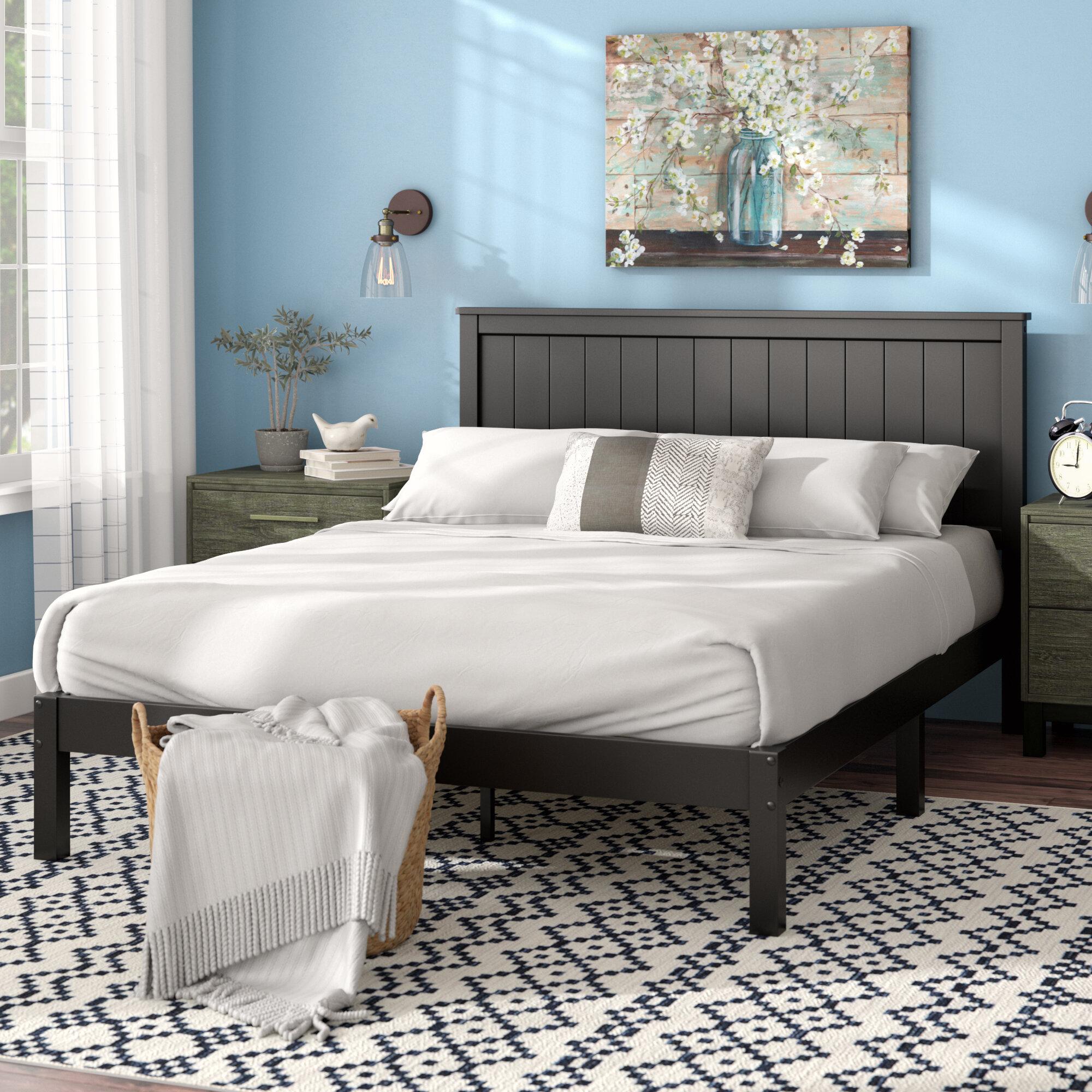 Black Wood Beds Frames You Ll Love In 2021 Wayfair