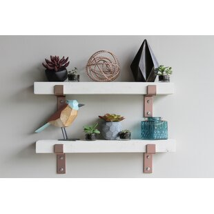 Bryton Reclaimed Barn Wood Accent Wall Shelf (Set of 2) by Williston Forge