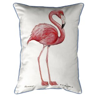 Tuttle Flamingo Extra Large Zippered Pillow Indoor Outdoor Lumbar