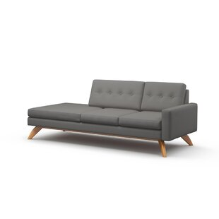 Luna 94 One Arm Sofa by TrueModern
