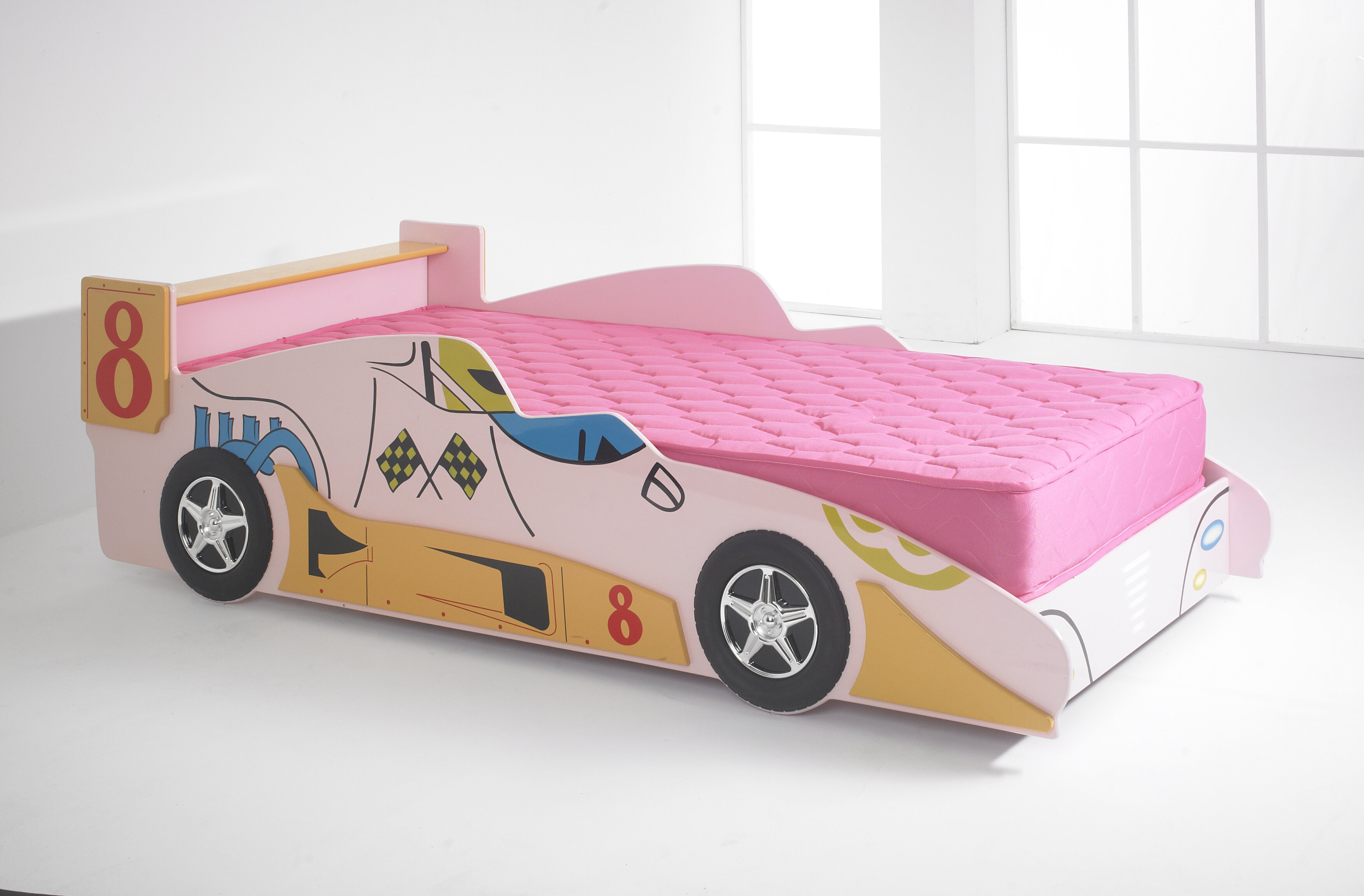 M&H Designs F1 European Single Car Bed | Wayfair.co.uk
