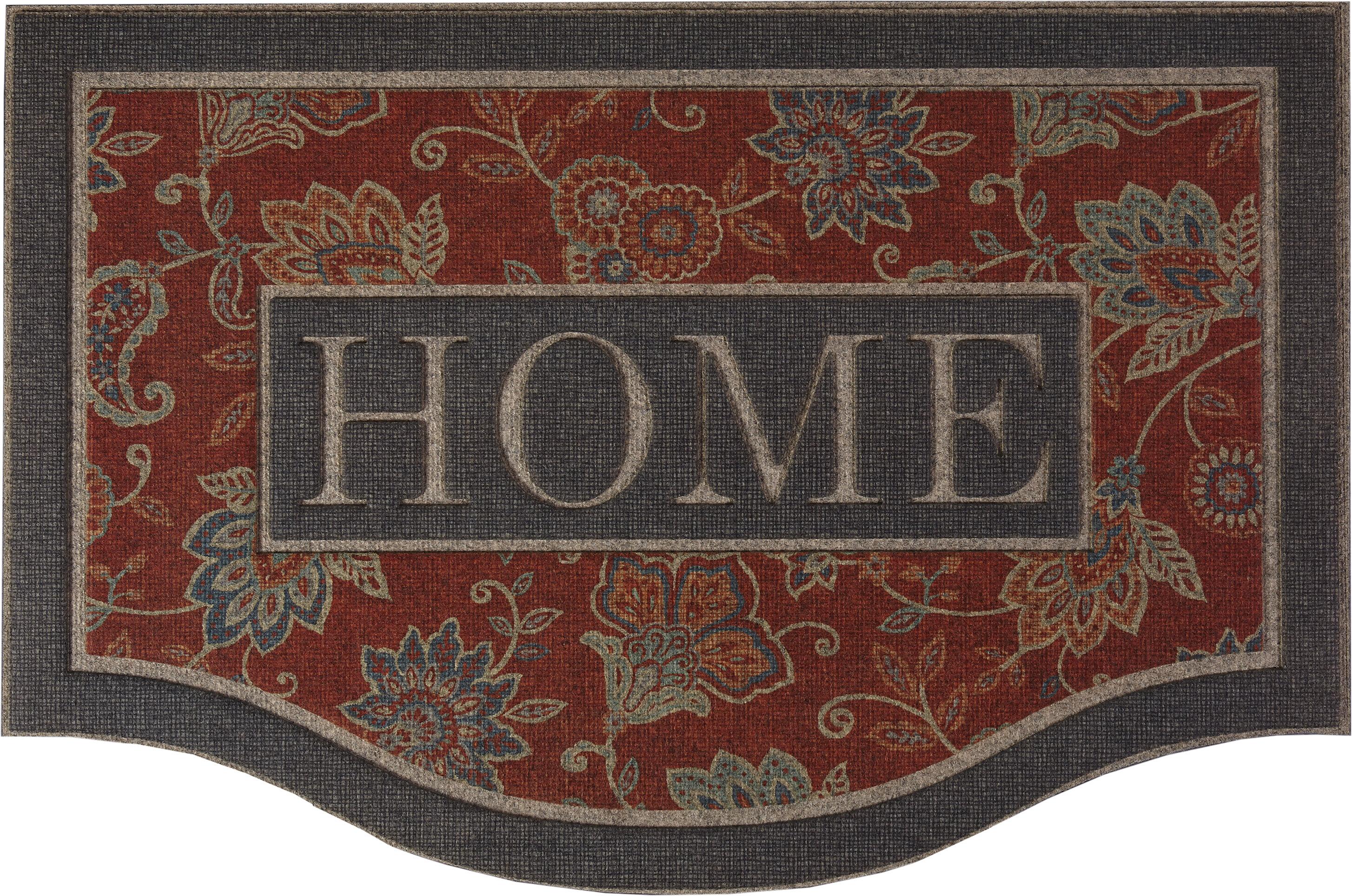 Charlton Home Catalina Ornamental Cozy 36 In X 24 In Non Slip Outdoor Door Mat Reviews Wayfair