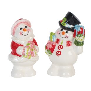 Flurry Folk Salt and Pepper Set By Fitz and Floyd
