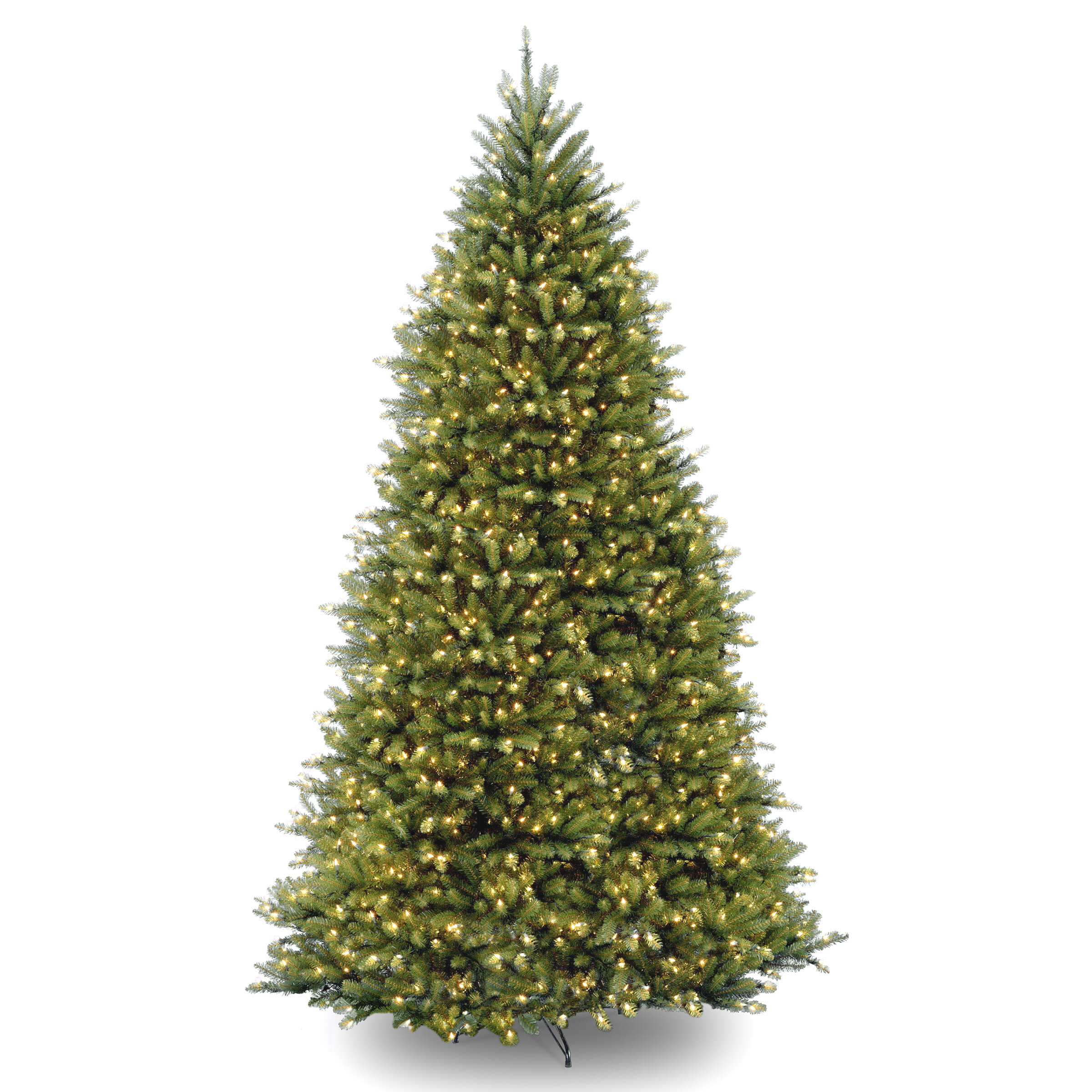 the latest 52c98 d762f Hinged 10' Green Fir Artificial Christmas Tree with 1200 Clear Lights