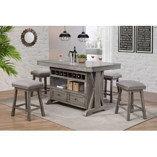 Vergara 5 Piece Kitchen Island Set
