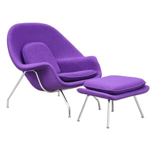 Lounge Chair and Ottoman by Fine Mod Imports