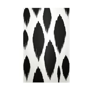 Ikat Black Indoor/Outdoor Area Rug By e by design
