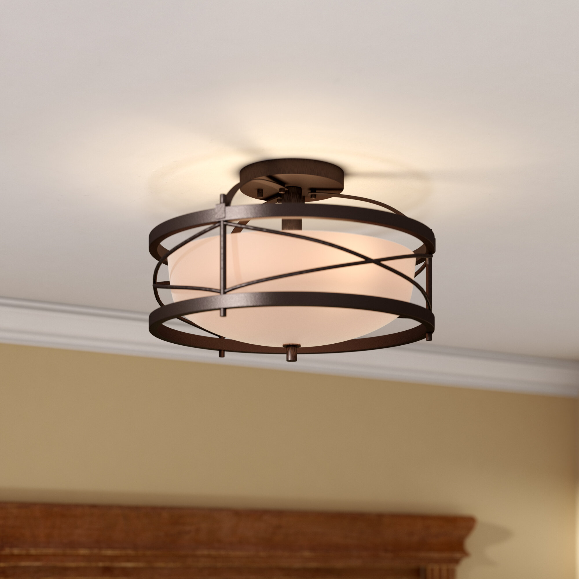 Darby home co farrier 2 light semi flush mount reviews wayfair