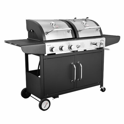 Performance 3-Burner Liquid Propane Gas and Charcoal Grill Royal Gourmet Corp Finish: Black