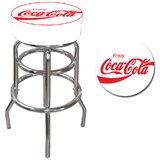 Coca Cola 31 Swivel Bar Stool by Trademark Global