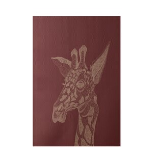 Safari Print Hand-Woven Rust Indoor/Outdoor Area Rug