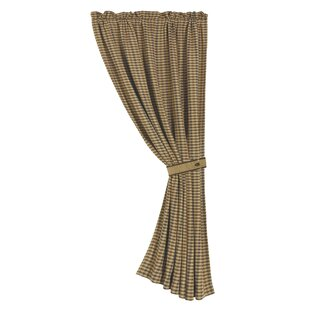 Furiani Houndstooth Single Curtain Panel