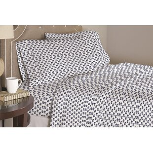 Galipeau Elephant 200 Thread Count 100% Cotton Sheet Set