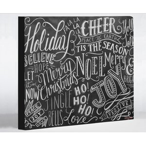 Holiday Lettering by Lily and Val Textual Art on Wrapped Canvas
