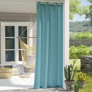 Captivating Azura Solid Room Darkening Outdoor Grommet Single Curtain Panel