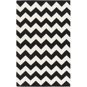 Bangor Black Chevron Area Rug
