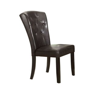 Papke Button Tufted Hardwood Parson Chair (Set of 2)