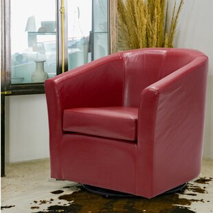 Budget Maughan Swivel Barrel Chair by Ivy Bronx