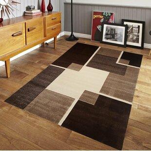 Find a Speller Luxury Brown/Beige/Black Area Rug ByEbern Designs
