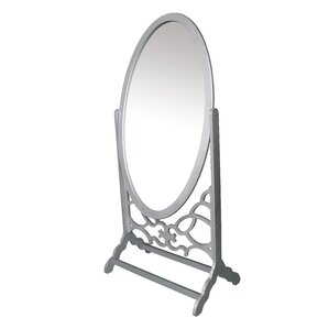 modern oval cheval mirror