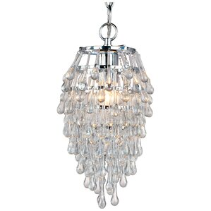 Genivee Teardrop 1-Light Crystal Pendant  sc 1 st  AllModern : crystal light pendant chandeliers - azcodes.com