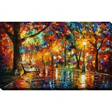 Colorful Night by Leonid Afremov - Wrapped Canvas Print by Andover Mills™