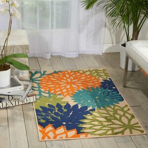 Nathalie Cream Indoor/Outdoor Area Rug